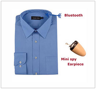 Spy Bluetooth Earpiece Shirt Set